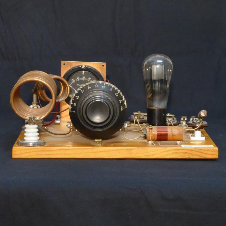A cool homemade vintage radio