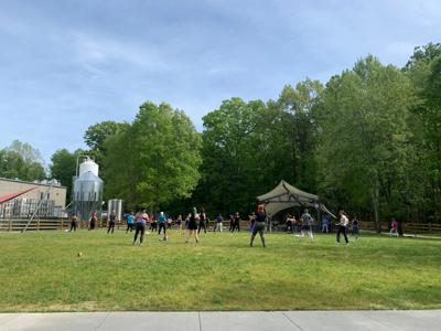 Hip Hop Fitness in Highland Brewing's Meadow