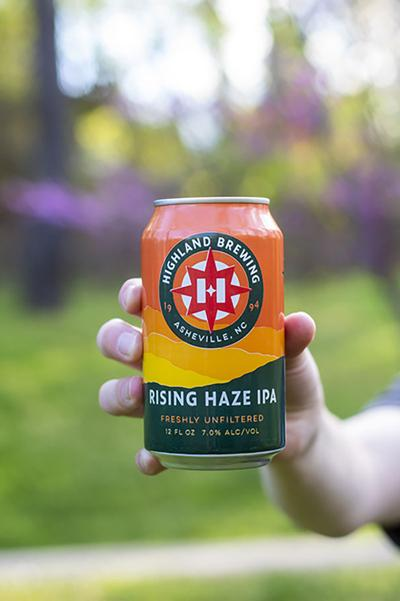Highland Brewing Rising Haze IPA can
