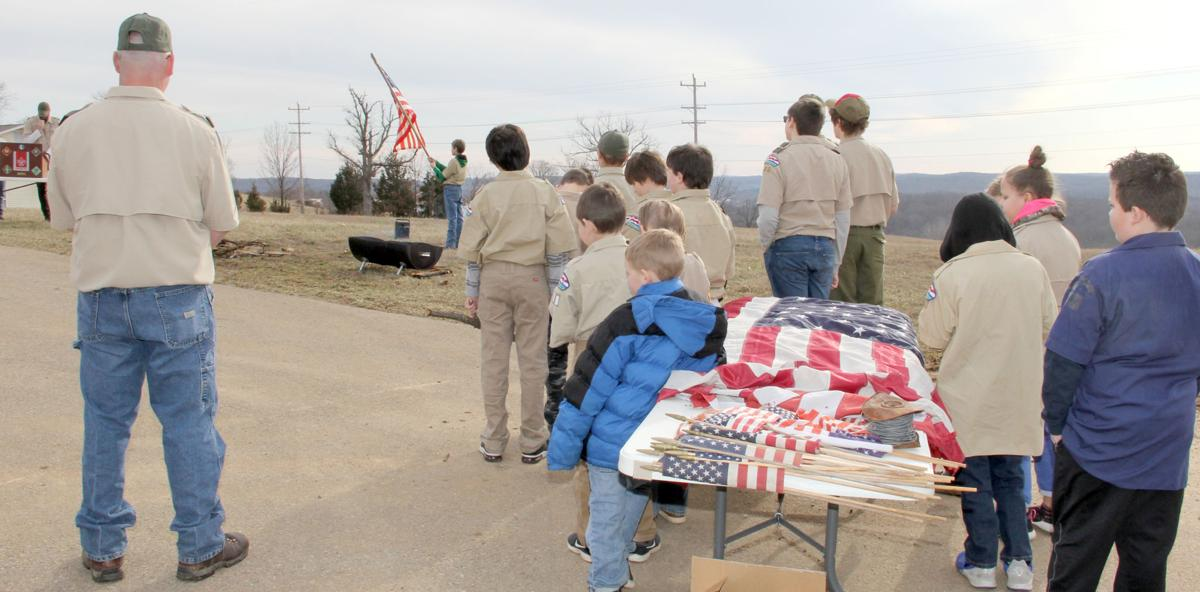 FLAG RETIREMENT CEREMONY HOSTED BY SCOUTS