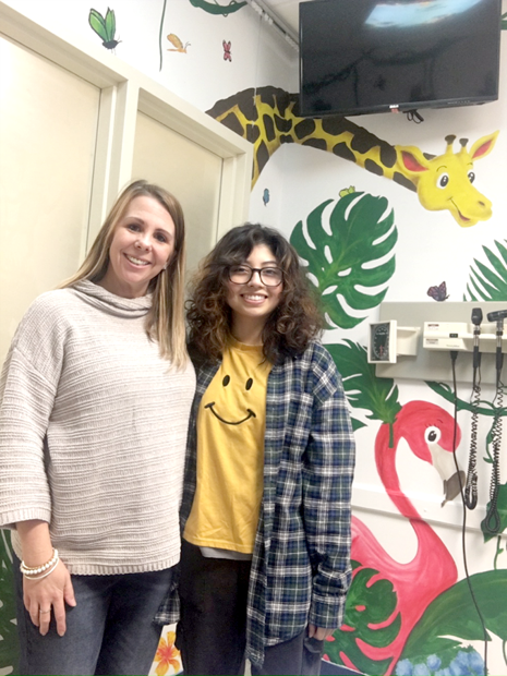 Local College Student – Allison Moore Gives WCMH ED Pediatric Room A Tropical Theme