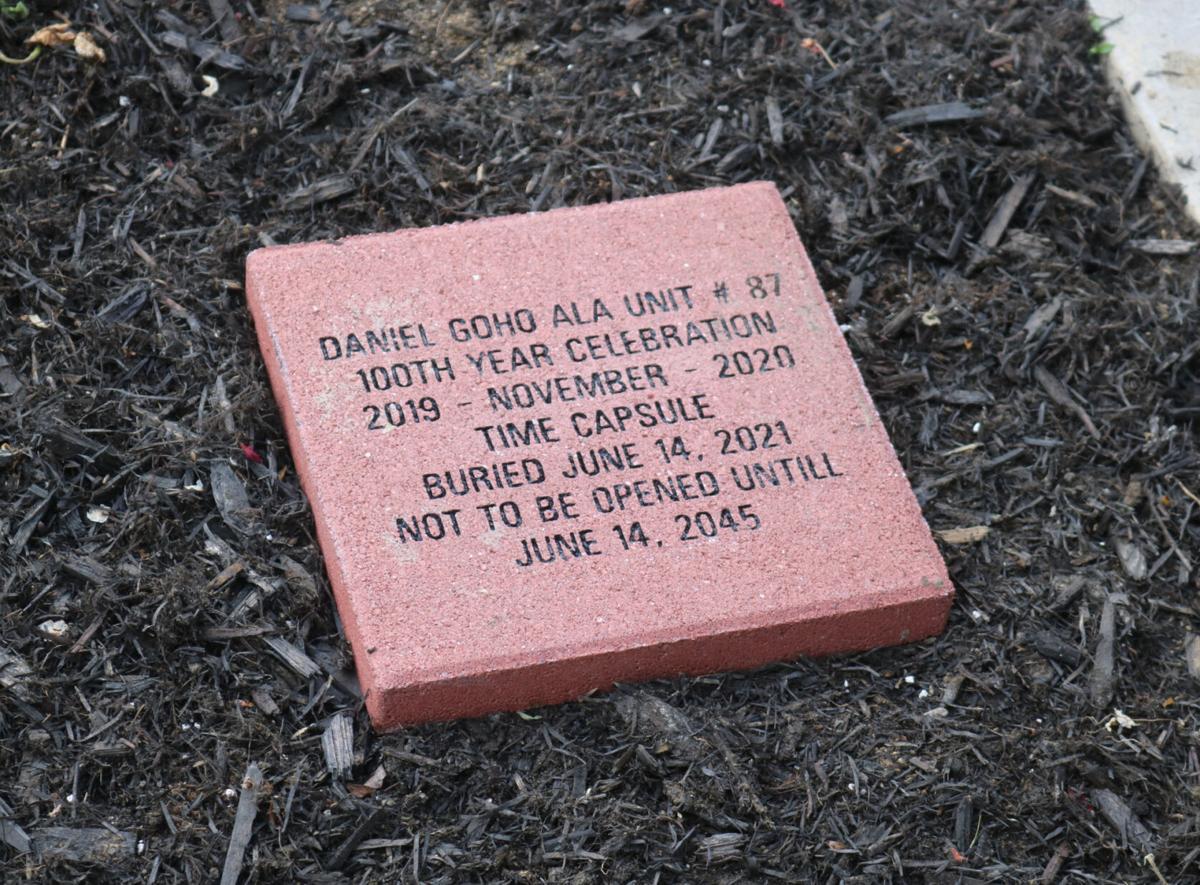Legion Auxiliary buries time capsule