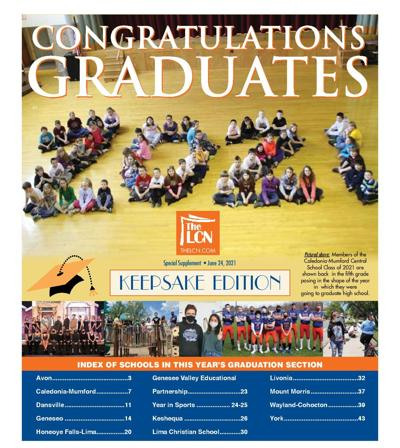 Livingston County News graduation section cover