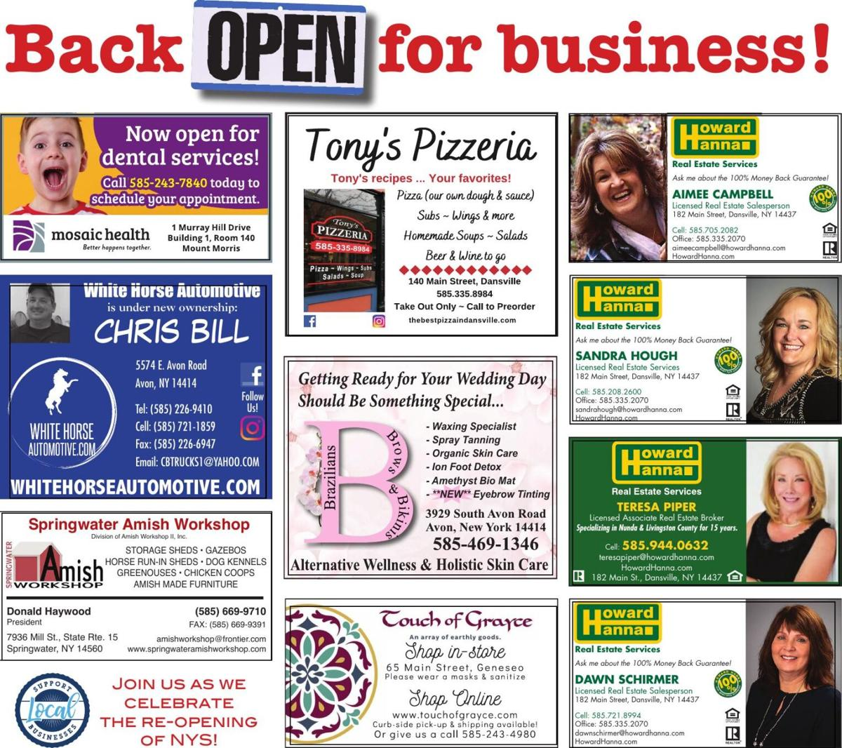 COVID-19 — Back open for business
