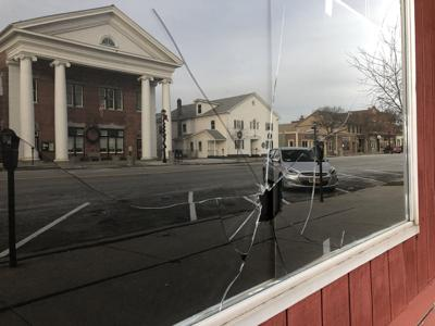 County News building vandalized