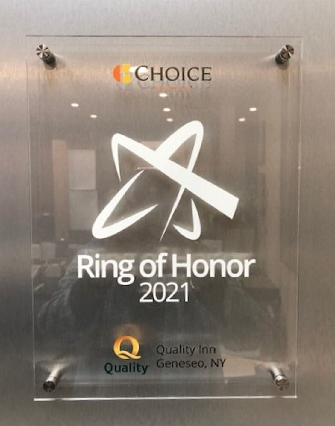 Quality Inn named to 'Ring of Honor'