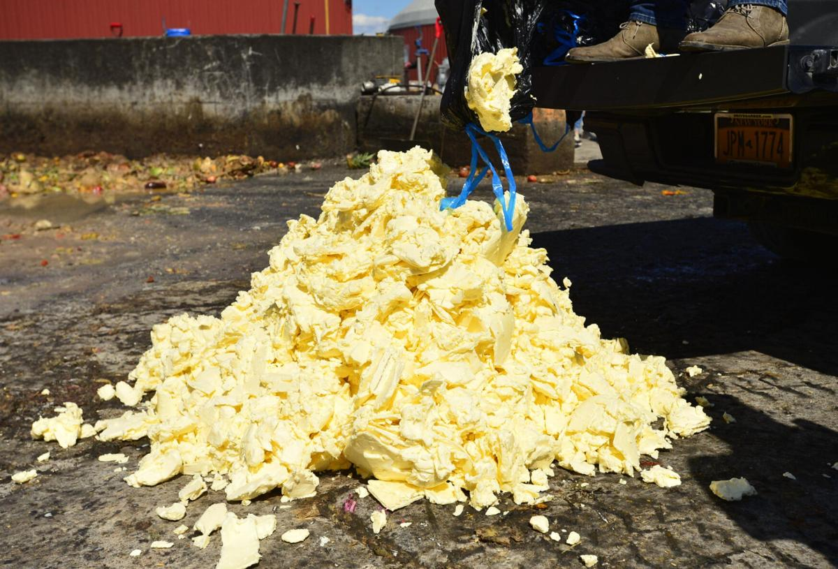 A butter sculpture's fate