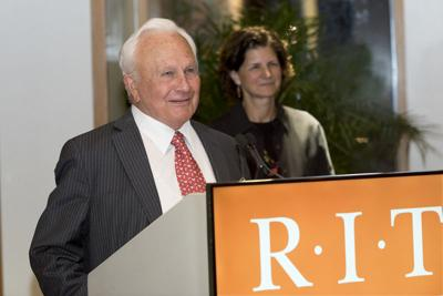 RIT honors E. Philip Saunders for a legacy of giving Namesake business college commemorates decade of student success