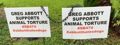 Abbott Hates Dogs Sign