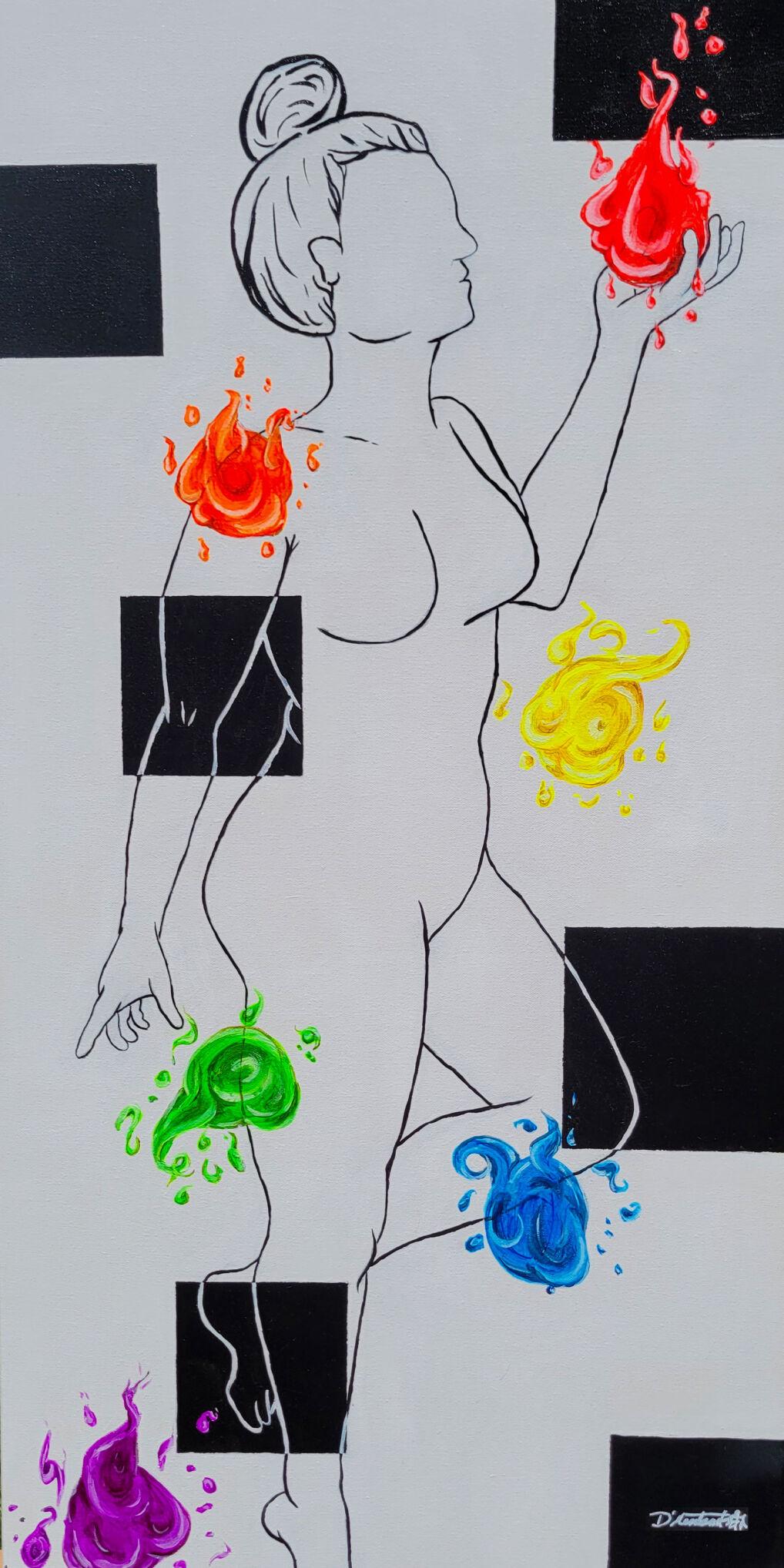 2) An acrylic painting titled Transcending Love by Mission Jade Art & Wine Walk participant D'Montserrat.jpg