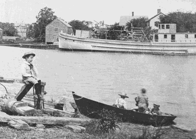 """By Skiff and Basket"" - Clamming in Essex Exhibit Currently at Town Hall"