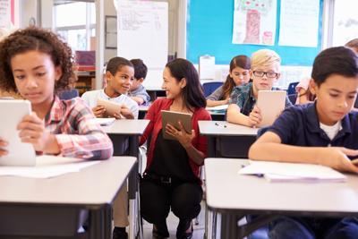 Kids in Classroom Education