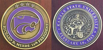 K-State challenge coin