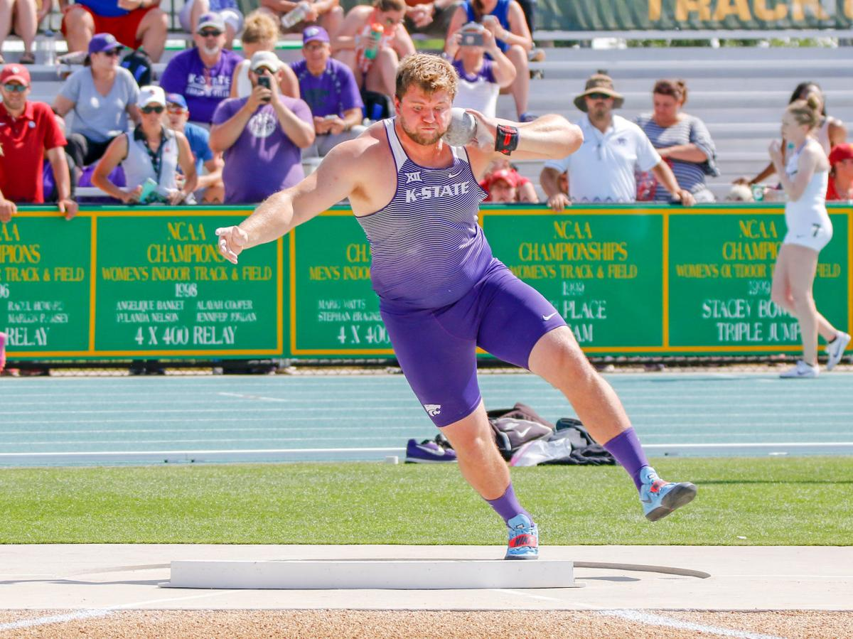 K-State shot putter Brett Neelly, 2018 Big 12 Track and Field Championship