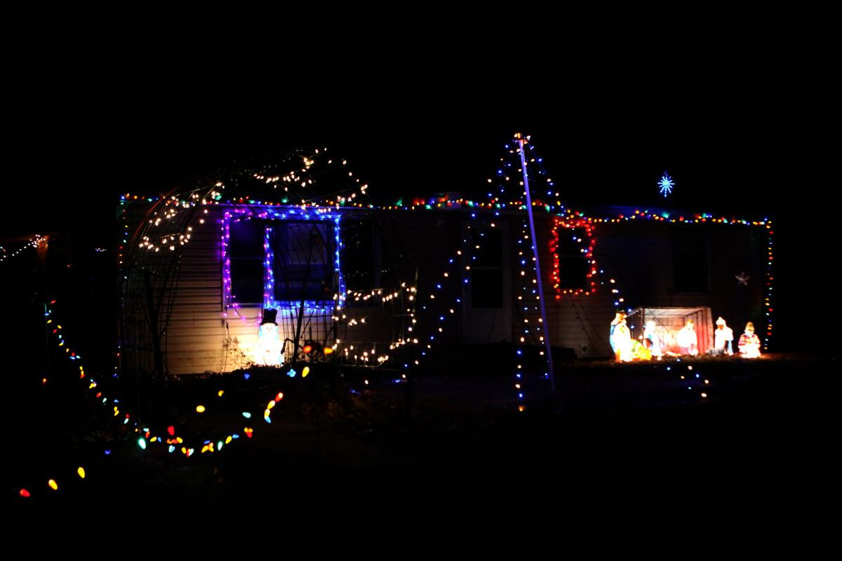 a light display set to music at 701 frey drive