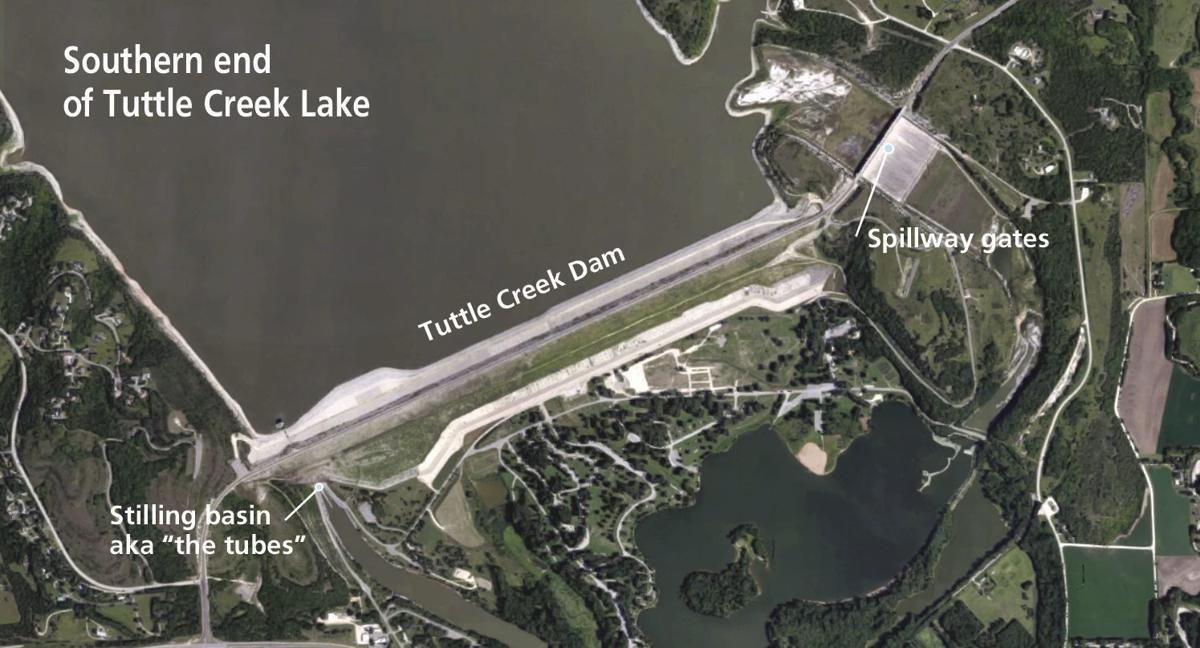 Tuttle Creek Dam map