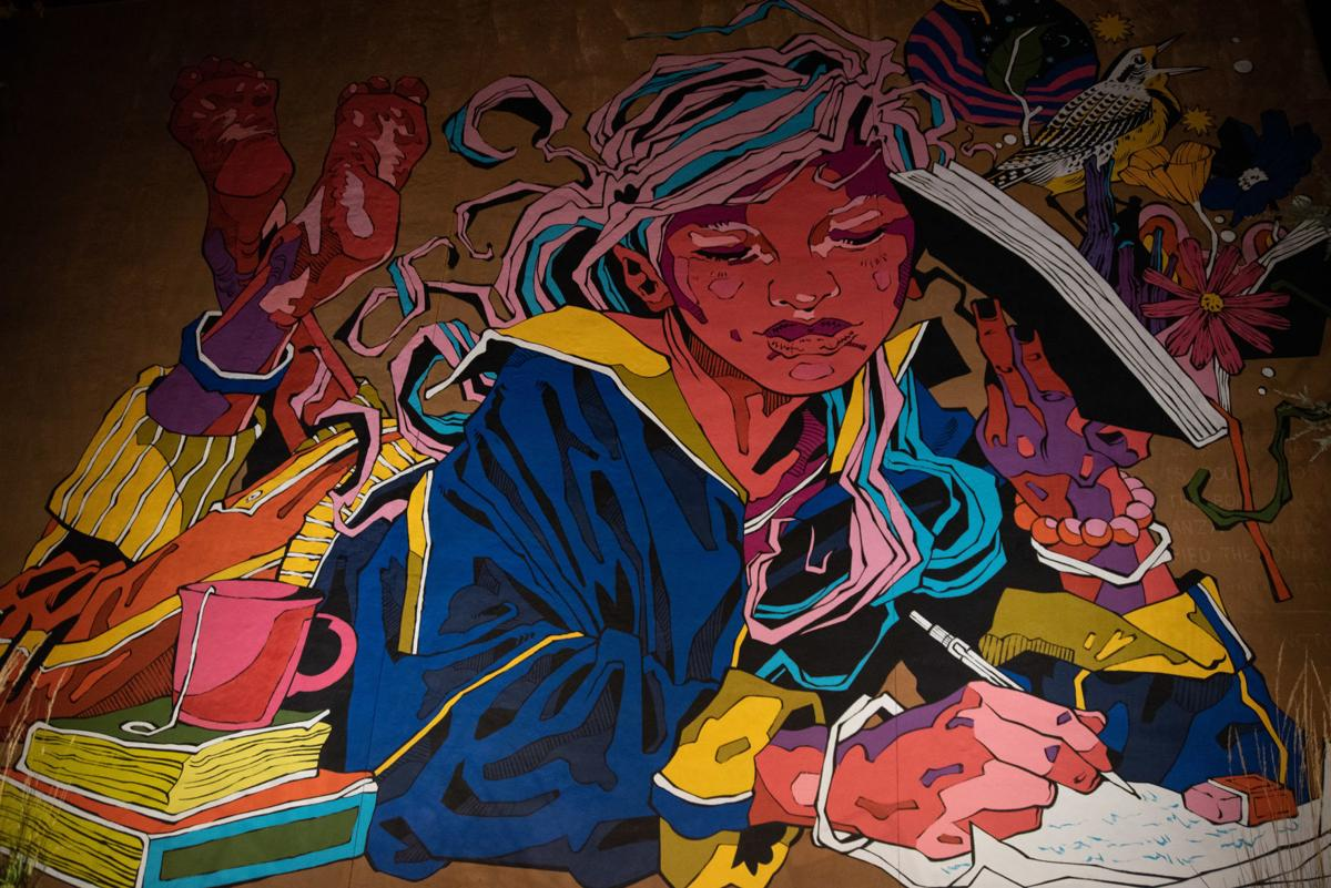 Mural at AJ's NY Pizzeria