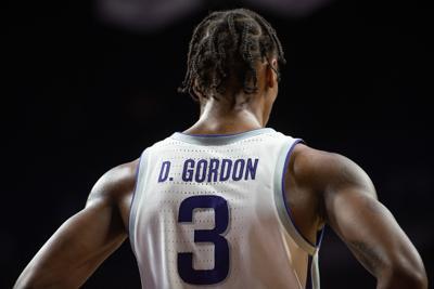 DaJuan Gordon stands on the court