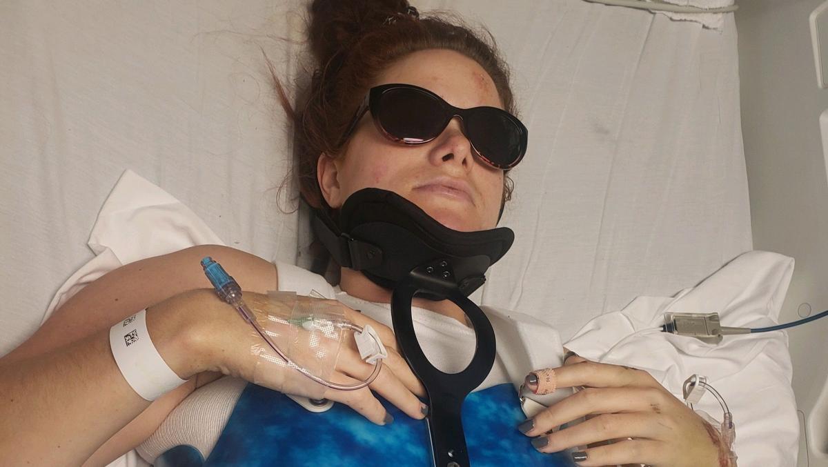 Courtney Thompson in hospital
