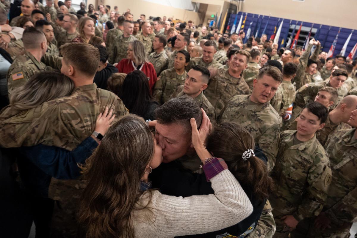 Lt. Col. Bryan J. Dodd reunites with his family