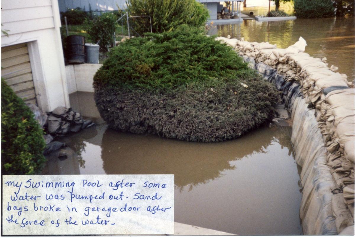 Water receding