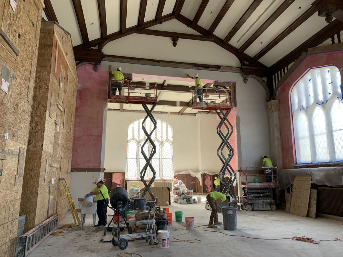 Hale Library plaster repair