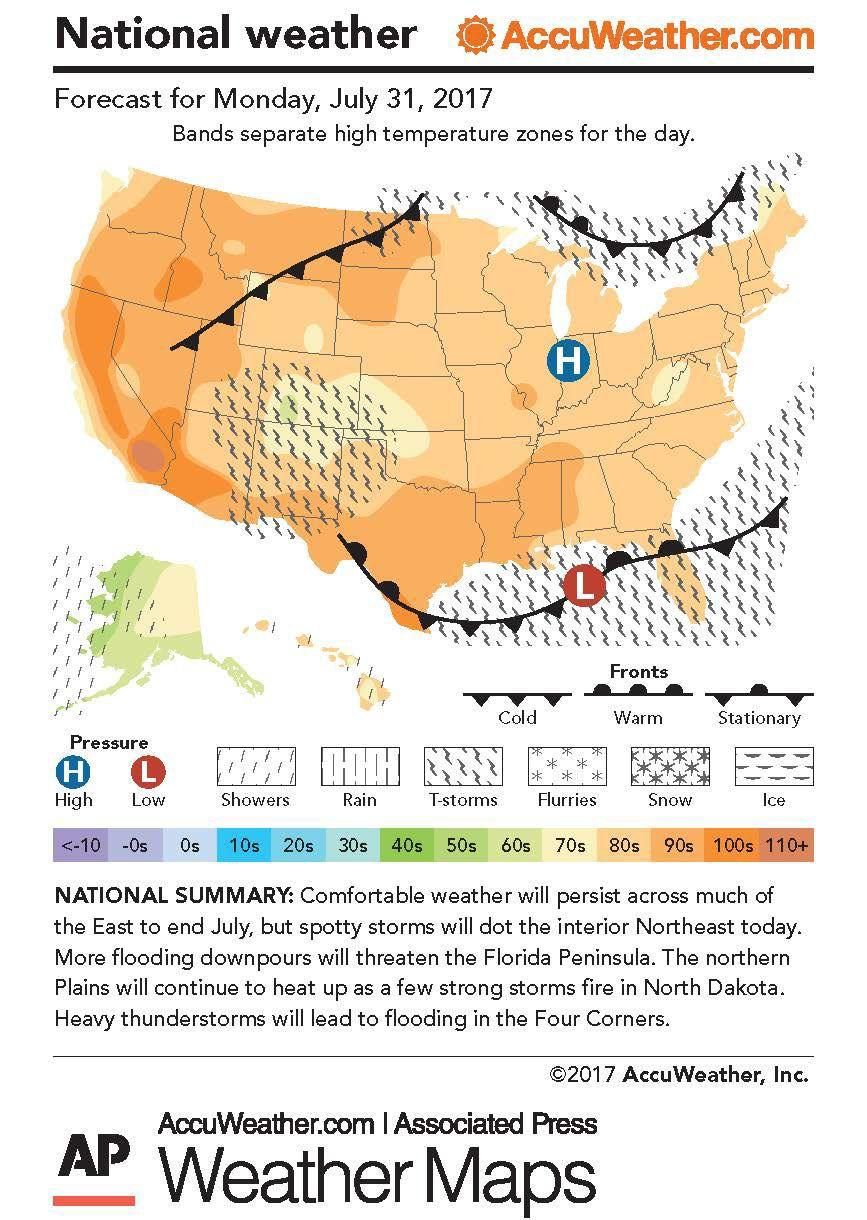 User Themercurycom - Us weather map lows