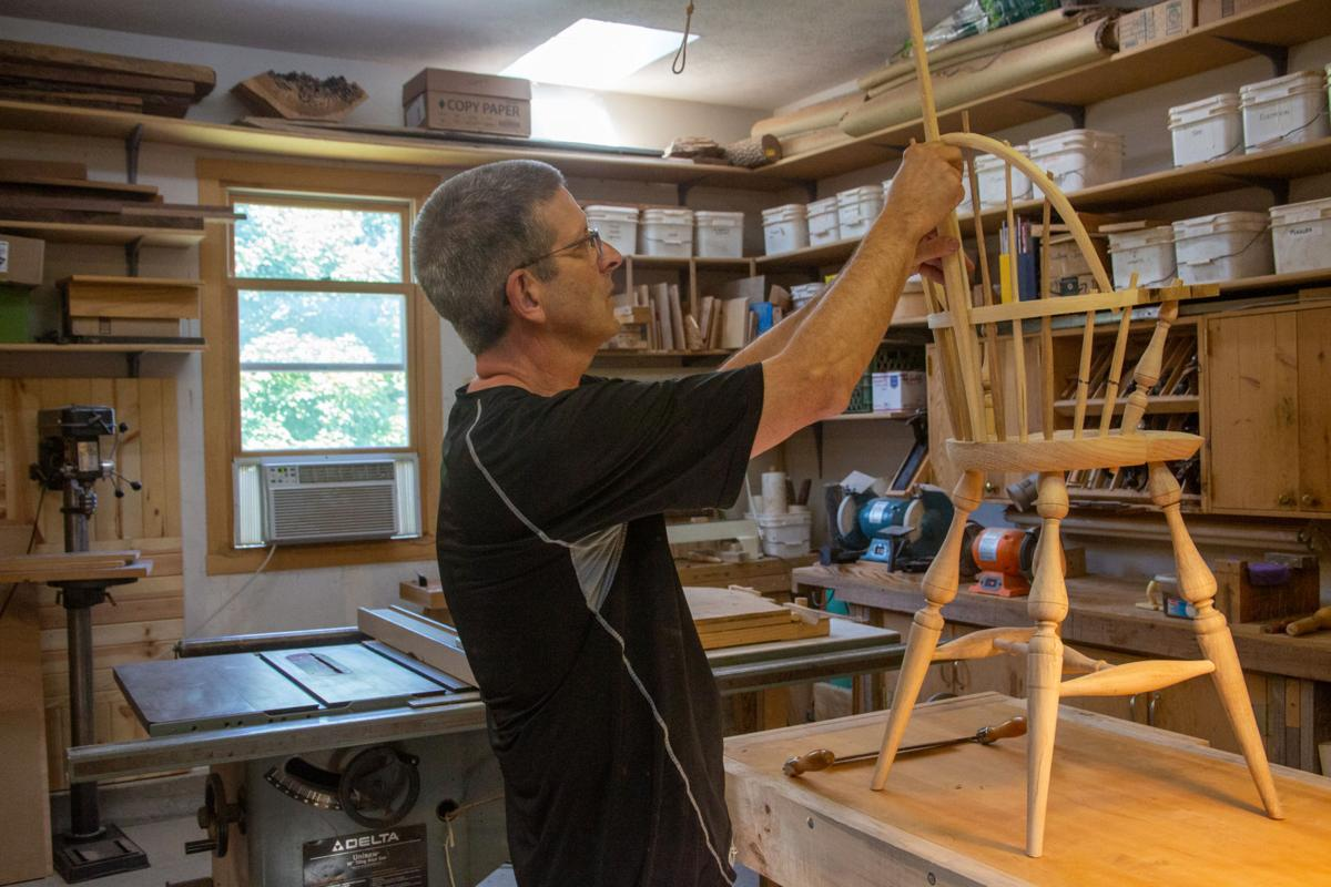Steve Ratliff works out his shop making a variety of wood based projects. Steve Ratliff is the Senior Pastor for Faith Evangelical Free Church.
