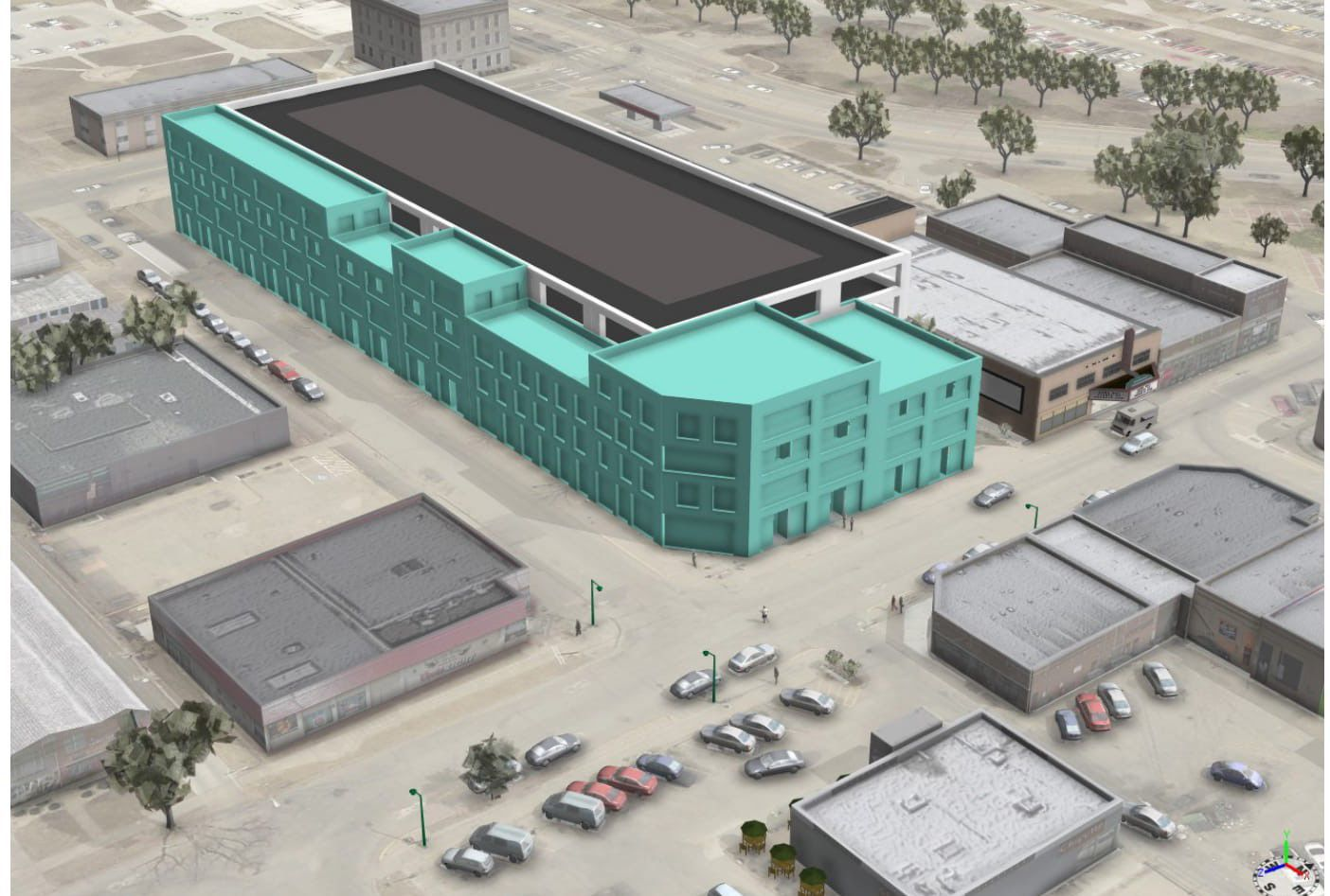 A rendering from Olsson Associates shows a concept for a five-story parking garage in Aggieville next to Rally House. In this concept the garage is wrapped ... & City to consider selling Aggieville parking lot for hotel | City ...