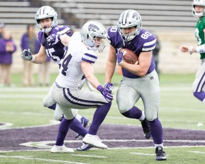 Fullback Adam Harter, Purple/White game 2018
