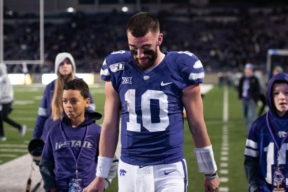 Skylar Thompson walks off the field after losing to West Virginia 24-20