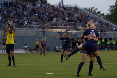 K-State soccer versus Arkansas State