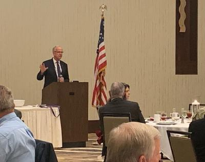 Moran speaks at Military Relations Committee luncheon