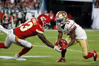 Byron Pringle 49ers Chiefs Super Bowl Football