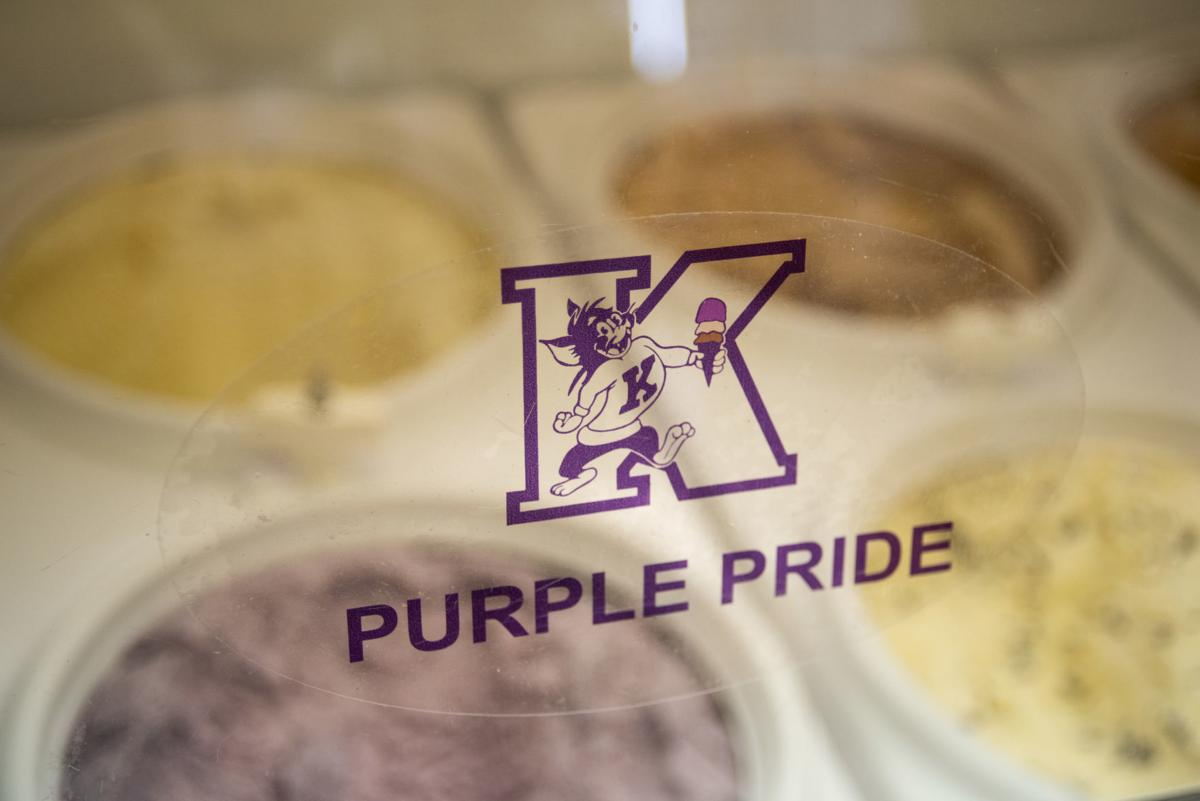 Call Hall's Dairy Bar offers a variety of ice cream flavors including, purple pride.