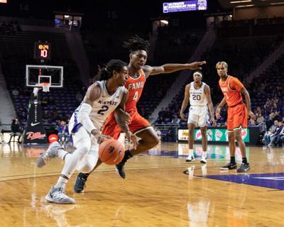 Carter Diarra drives the ball to the hoop vs. Florida A&M 2019