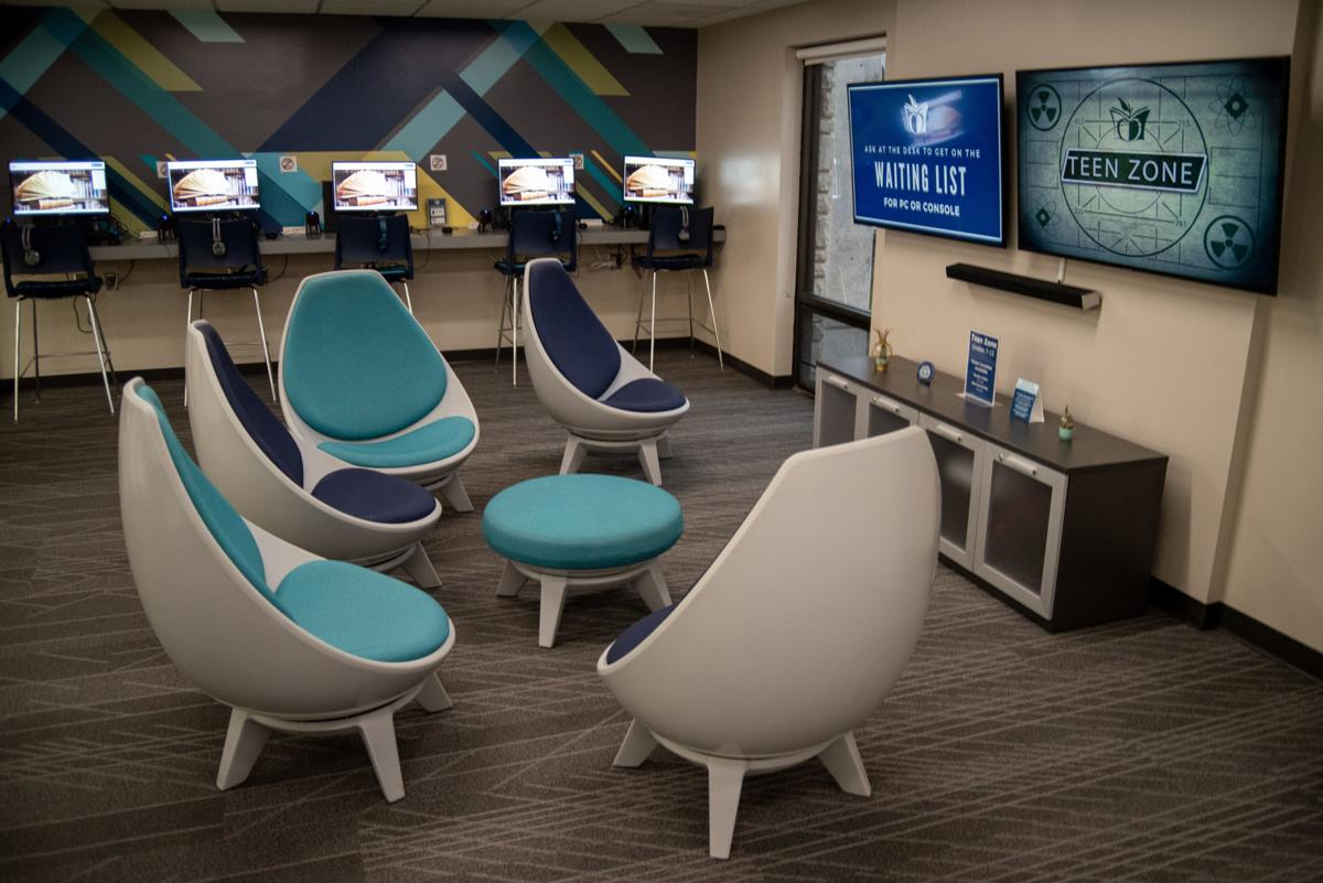 The Teen Zone gives teenagers a place to study, play video games or talk with friends without interrupting other library patrons.