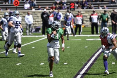 K-State Spring Game, John Holcombe running