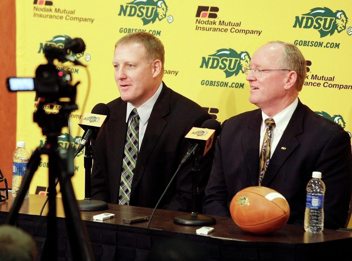 Chris Klieman and Gene Taylor at NDSU