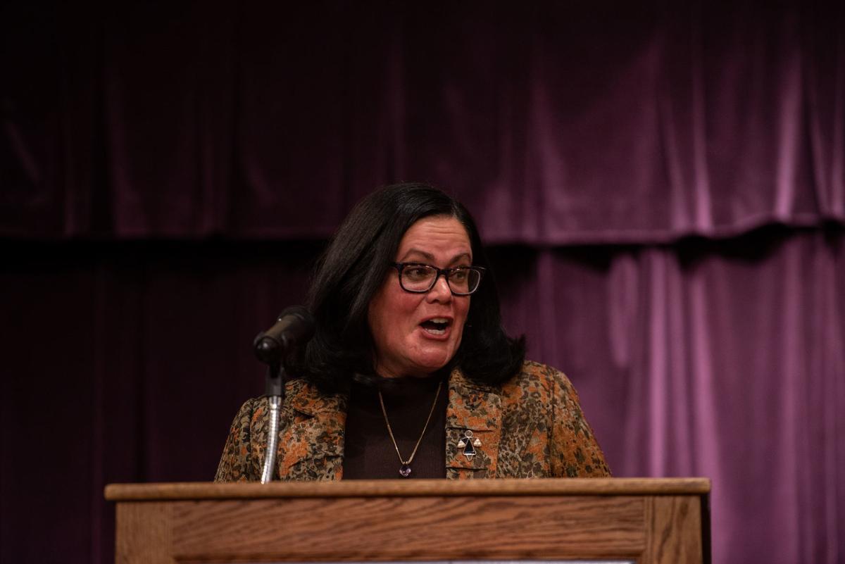 Keynote Speaker Judge Maritza Segarra speaks