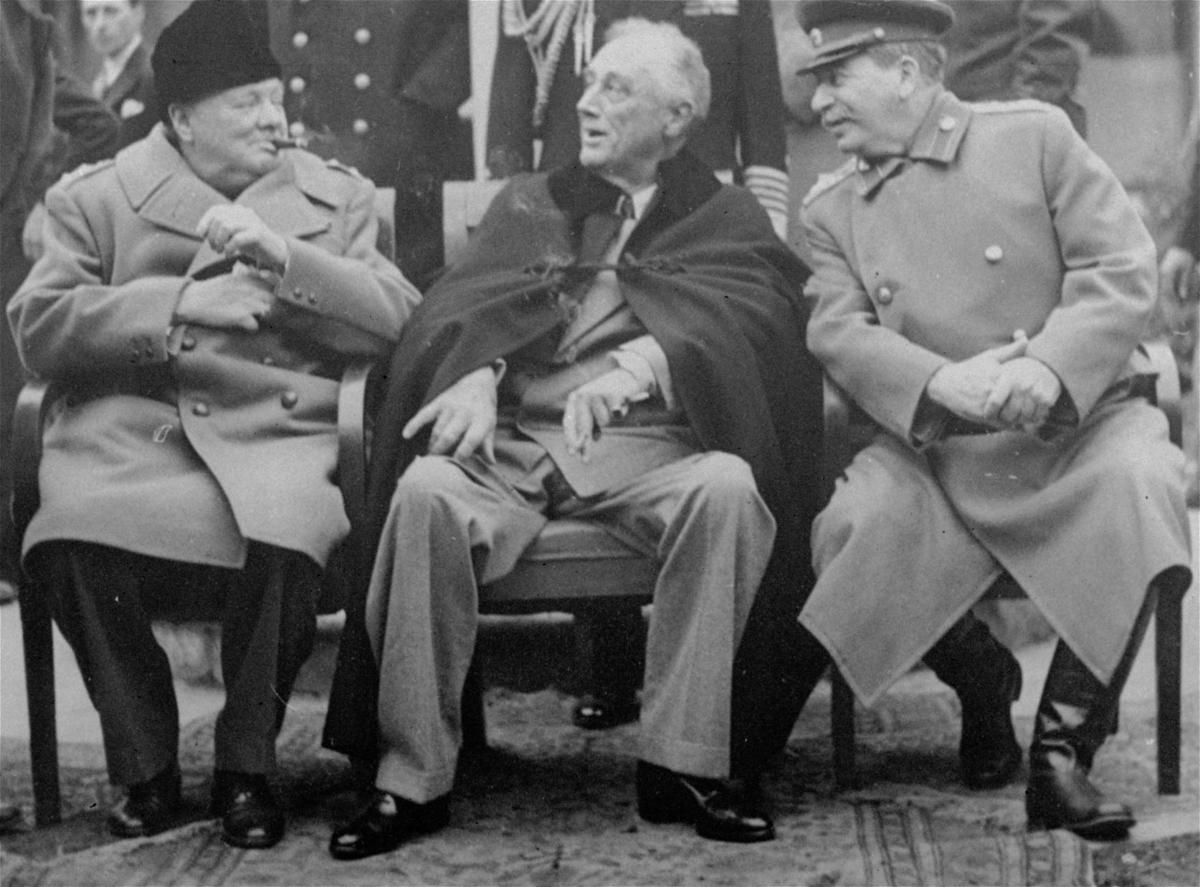 Franklin D. Roosevelt, Winston Churchill, Josef Stalin