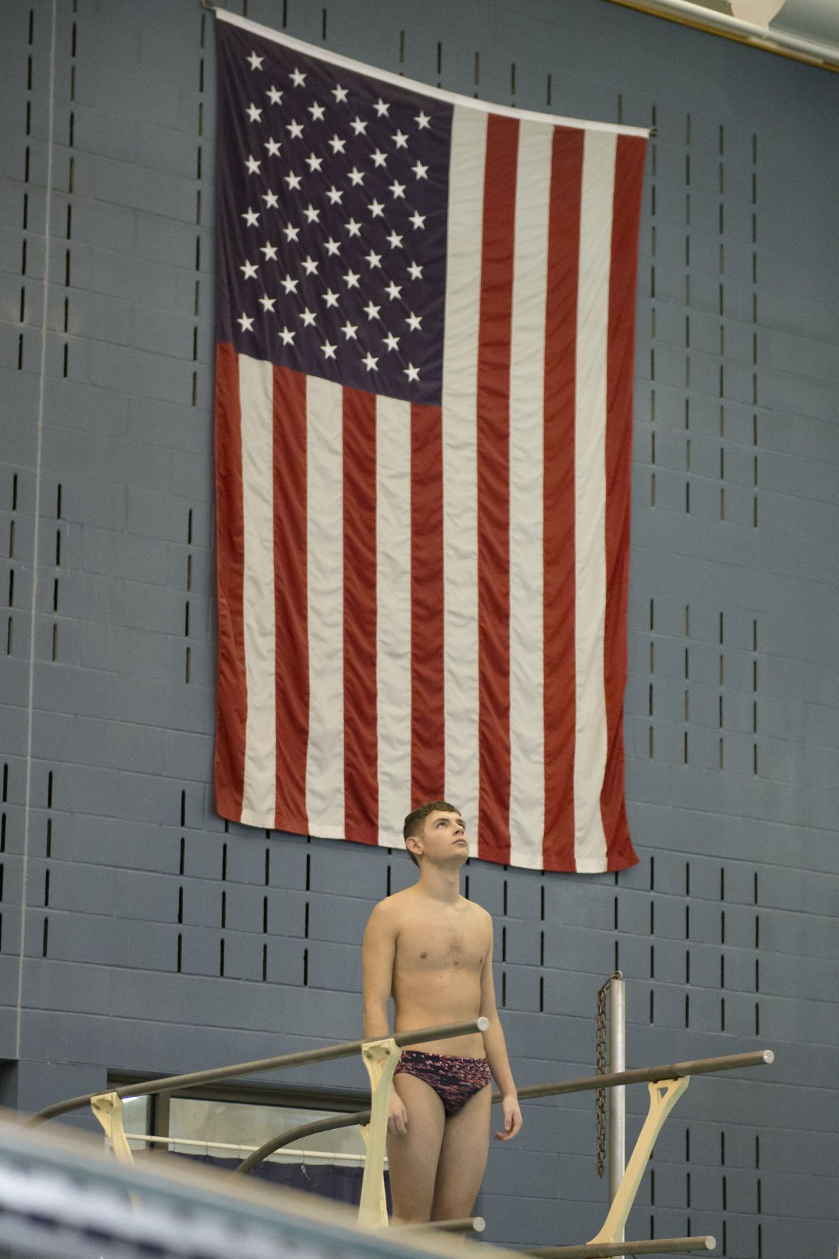 Manhattan's Zeke Kohl prepares to dive
