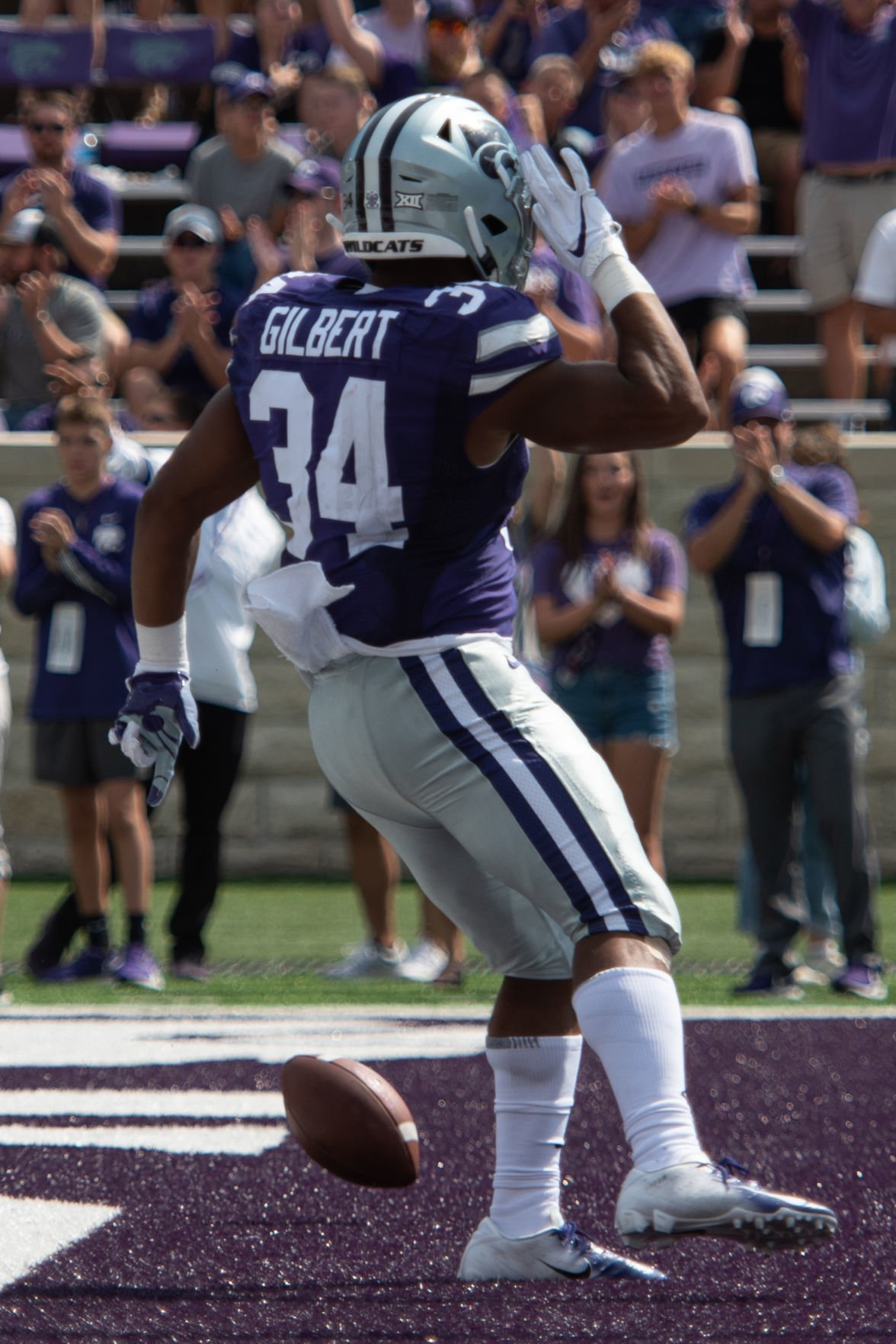 James Gilbert touchdown celebration