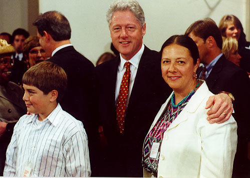 Yolanda Broyles-González and Clinton
