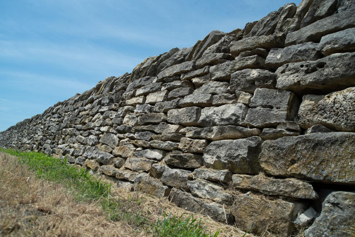 The Native Stone Scenic Byway sits on the side of the road near Low Water North Road and Kansas Highway 99.