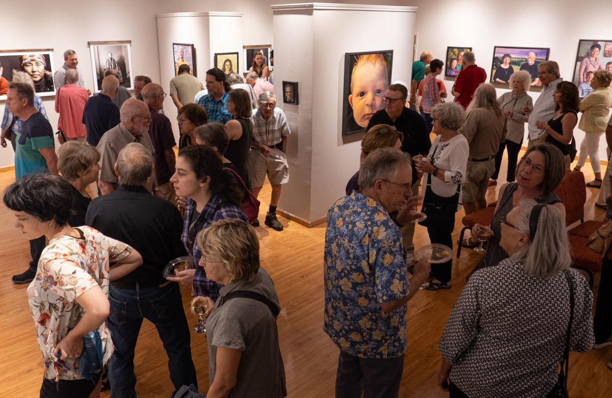 Three Naive Portrait Artists opening reception