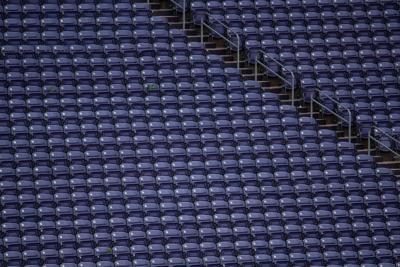 Empty seats at Bill Snyder Family Stadium.