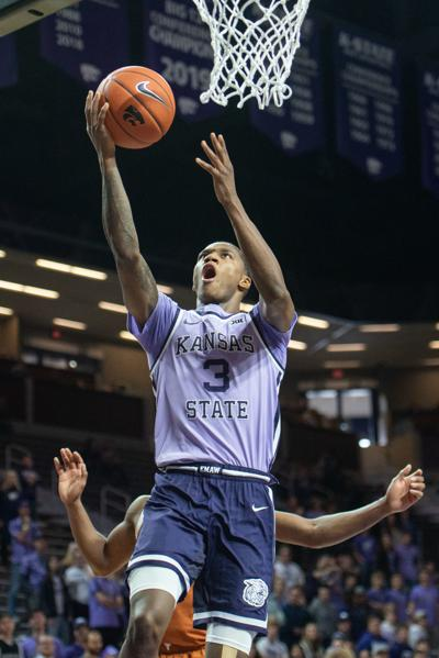 DaJuan Gordon (3) attempts a lay-up on a fast break during the second period.