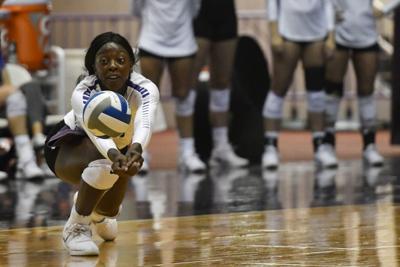 College Volleyball: Kansas State vs. Omaha 2018, Gloria Mutiri