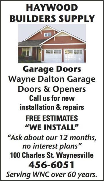 Haywood Builders Supply Garage Garage Door Installation Repair